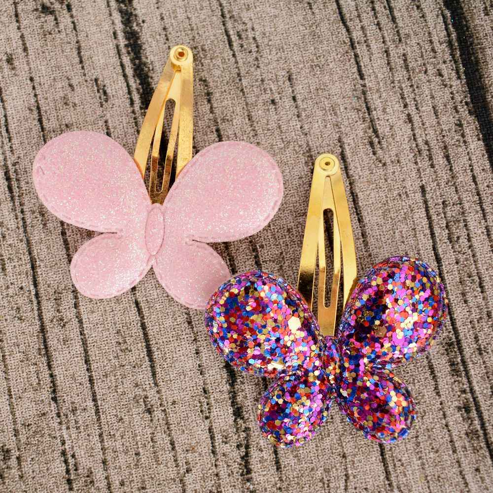 Baby Girls Hair Accessories Sequins Heart Butterfly Barrettes Glitter Stars BB Clip Hair Clips Kids Children Hairpin