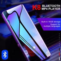 K8 16G 1.8 Inch Touch Screen MP3 MP4 Player Music Playback Picture Browsing FM Radio Voice Recording Bluetooth MP4 Player