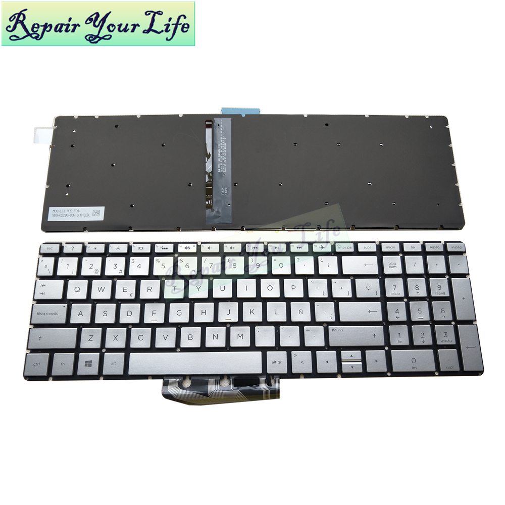 New For <font><b>HP</b></font> Envy X360 15 BW Laptop <font><b>Keyboard</b></font> Spanish for <font><b>HP</b></font> 15-B 15-BP 15-BS Spain SP Backlit <font><b>keyboard</b></font> 920216-071 image