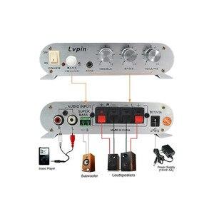 Image 2 - Amplificateur de voiture chaude Hi Fi 2.1 MP3 Radio Audio stéréo haut parleur Booster lecteur pour moto moto usage domestique