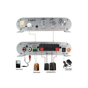 Image 2 - Heißer Auto Verstärker Hallo fi 2,1 MP3 Radio Audio Stereo Bass Lautsprecher Booster PLayer für Motorrad Motorrad Hause Verwenden