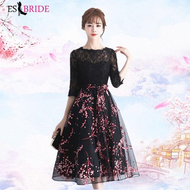 Black Vestidos De Fiesta De Noche Casual Pink Appliques Evening Dress Elegant Robe De Soiree Evening Dresses Evening Gown ES2000 3