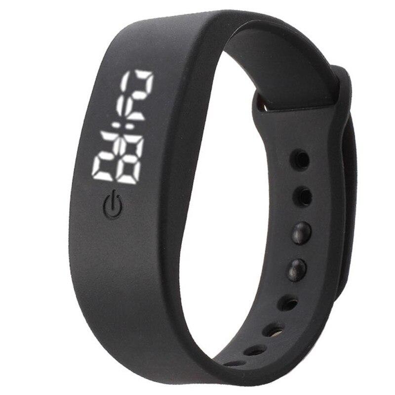 Digitale Uhr Led Uhr Männer Relogio Masculino Relogio Feminino Erkek Kol Saati Wecker Schritt Run Schritt Uhr Sport Armband El Klar Und Unverwechselbar