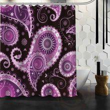 Best Nice Custom Paisley Shower Curtain Bath Waterproof Fabric For Bathroom MORE SIZE WJY101