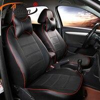 AutoDecorun Искусственная кожа опоры сидений для Mitsubishi Pajero Sport аксессуары сиденья набор сиденье автомобиля Наволочки протекторы