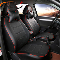 AutoDecorun PU leather seat supports for Mitsubishi Pajero Sport accessories seat cover set cars seat cushion covers protectors