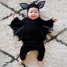 Cute Toddler Newborn Baby Boys Girls Jumpsuit Halloween Cosplay Costume Boys Girls Long Sleeve Romper Hat 2PCS Outfits Set 3-24M emmababy cute princess dress newborn toddler baby girls unicorn lace tutu fly sleeve romper jumpsuit fancy dress outfits costume