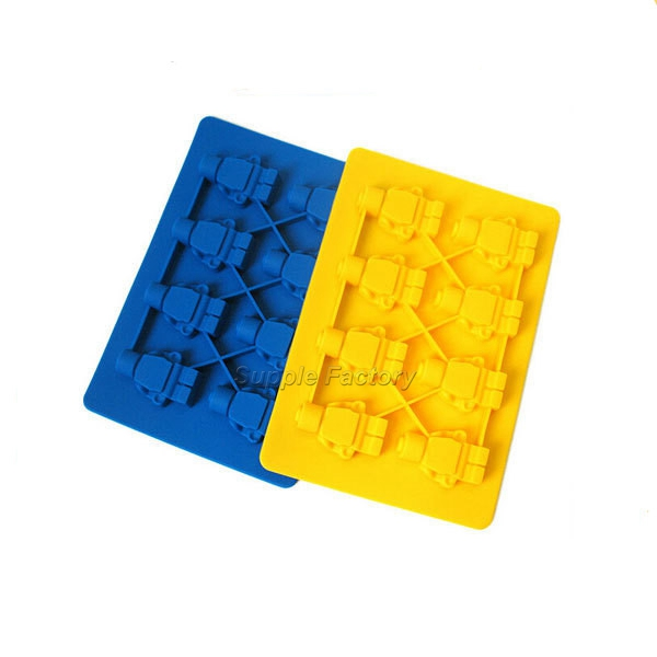 200 pcs lot Free shipping Silicone Ice Cube Tray Mold Maker robot Ice Cream Mold Maker