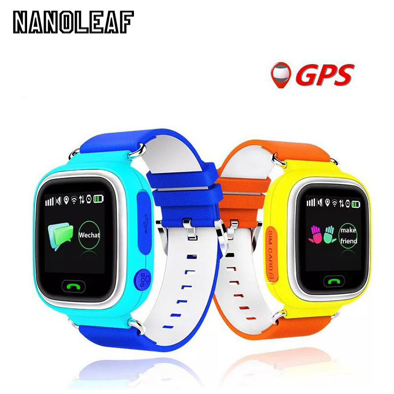Q90 GPS Touch Screen WIFI Position Smart Watch Children SOS Call Location Finder Tracker Kid Safe Anti Lost Monitor pk Q50 Q80 ds18 waterproof smart baby watch gps tracker for kids 2016 wifi sos anti lost location finder smartwatch for ios android pk q50