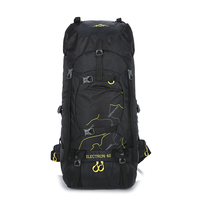 60L High Capacity Mountaineering Backpack Waterproof Nylon Climbing Backpack Travel Hiking Sport Bag Outdoor Camping Knapsack  e0902 45l large capacity outdoor mountaineering bag multi function waterproof nylon bracket hiking travel backpack