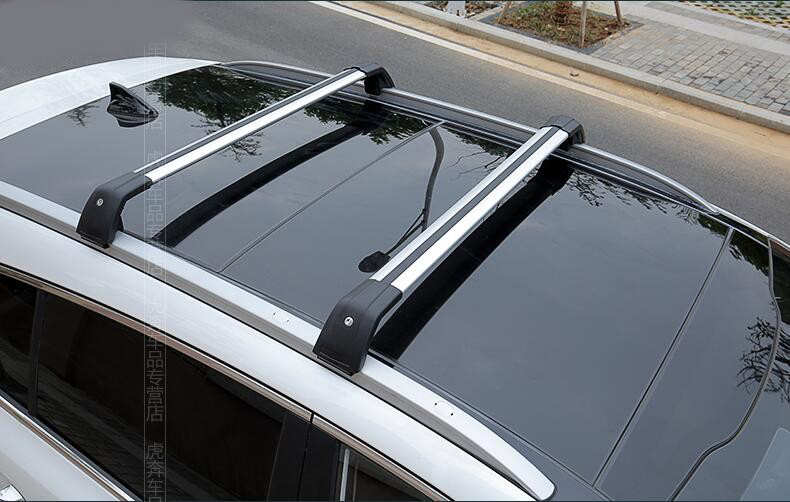 2x For KIA Sportage R 2011-2016 Black Alloy Cargo Carrier Cross Bar Roof Racks