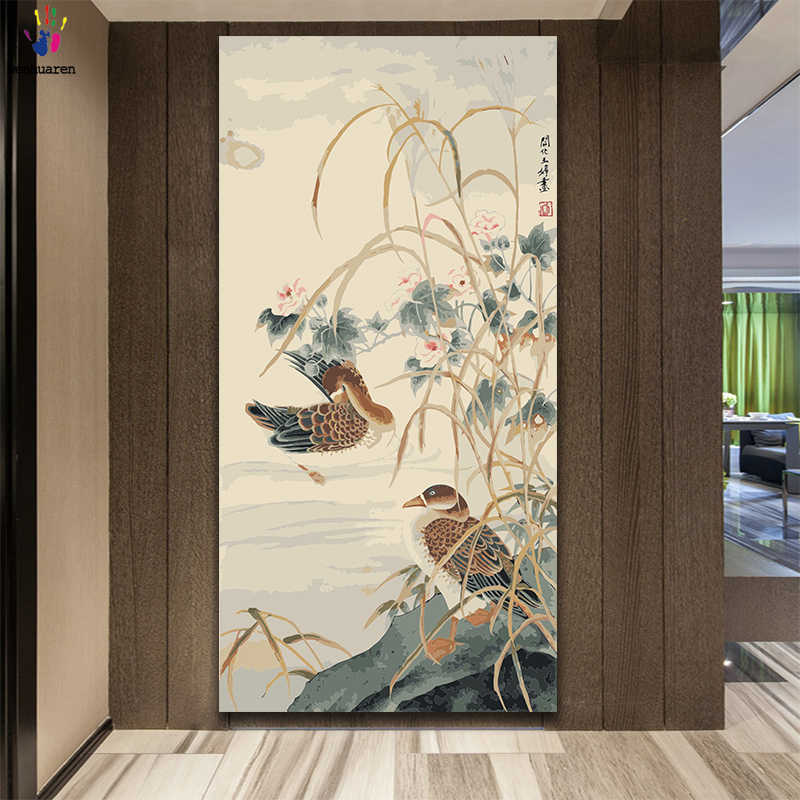 DIY colorings pictures by numbers with colors Chinese style large painting picture drawing painting by numbers framed Home