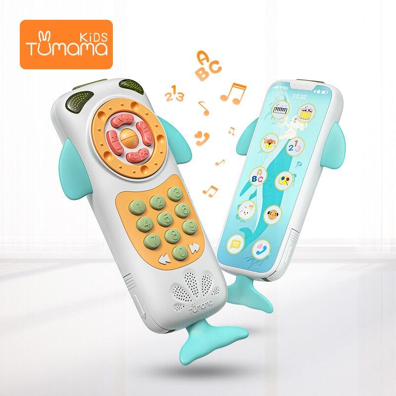 Tumama Baby Handy Niedlichen Spielzeug Für Baby Musik Telefon Spielzeug Frühe Pädagogische 0-12 monate Lernen Telefon Telefon spielzeug für Baby