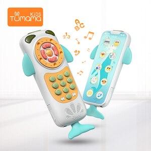 Image 3 - Tumama bebê telefone móvel aprendizagem precoce educacional telefone crianças brinquedos musicais para o bebê música telefone