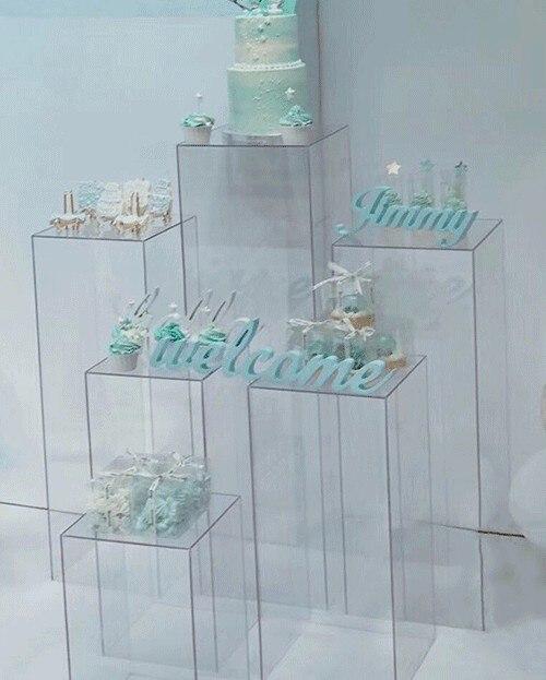 Bouquet de fleurs se dresse centres de mariage fleur acrylique Stand fenêtre artisanat affichage allée route conduit mariage fleurs décor