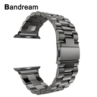 Stainless Steel Watchband Adapters For IWatch Apple Watch 38mm 42mm Series 1 2 3 Metal Band