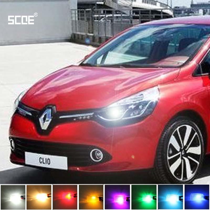 где купить  For Renault Clio IV Clio II  Clio III SCOE 2015 New 2X 12SMD LED Front Parking Light  Front Side Marker Light Source Car Styling  по лучшей цене