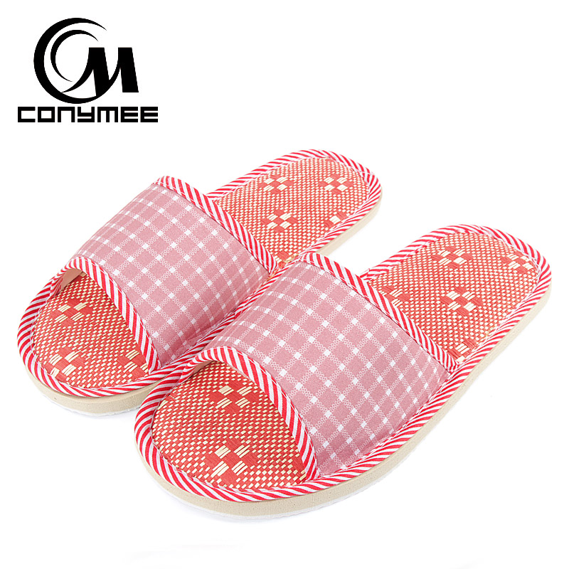 CONYMEE Flax Home Slippers Beach Shoes Woman For Summer Indoor Floor Linen Slippers For Women Soft Soles Sandals Slippers YM-DG conymee jd xtw home slippers