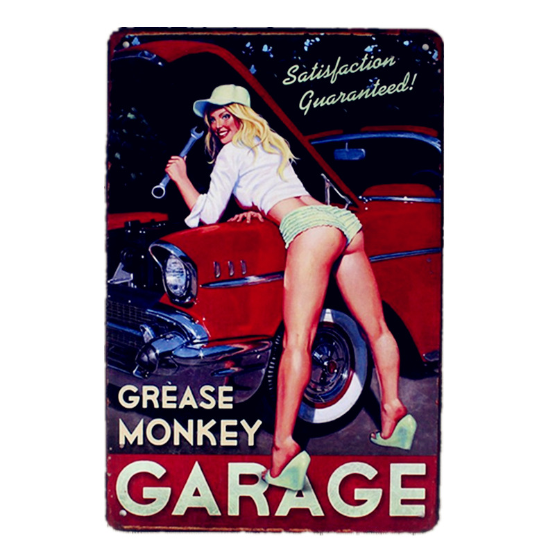Grease Monkey Pin Up Girls Wall Decor Satisfaction