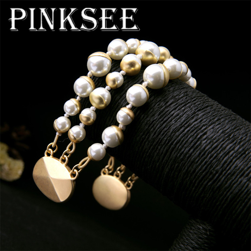 PINKSEE Fashion Multilayer Beaded Bracelet Fashion Liberality Wristband Jewelry For Women Wholesale