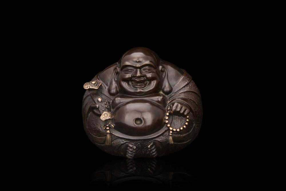 Tête artisanat chinois bronze ornements petit bouddha bouddhiste cadeau Chongyang wishful sourire de FX-004