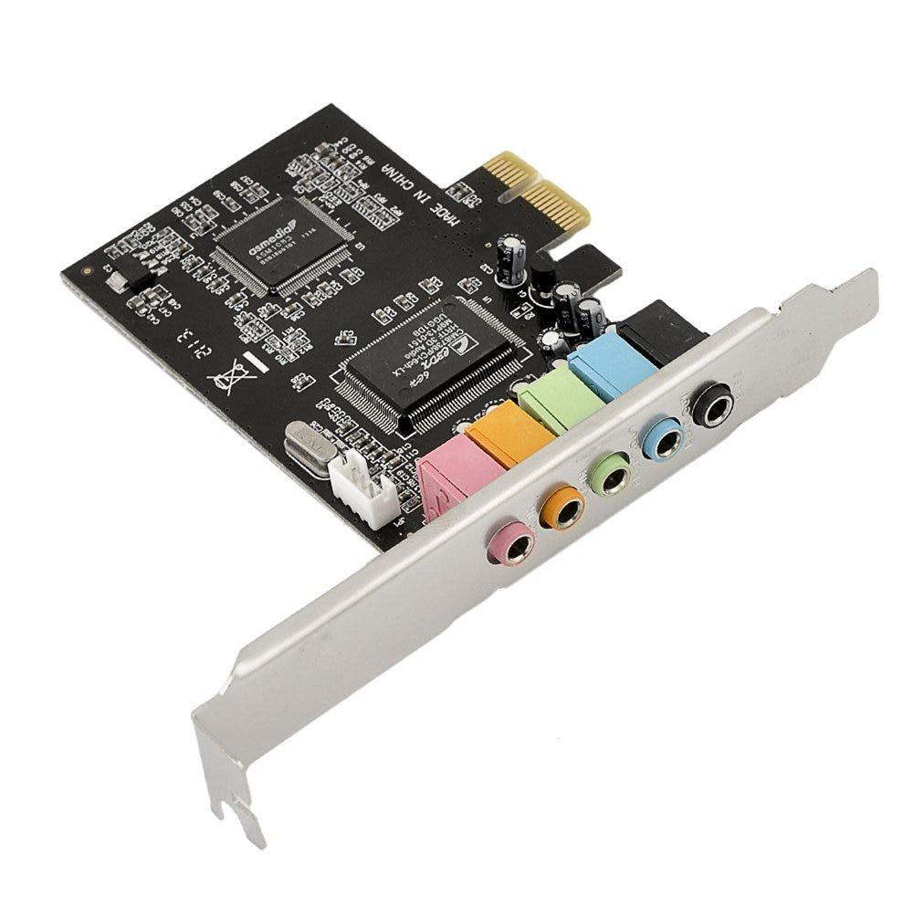 PCIE 5.1ch geluidskaart converter adapter / PCI-express uitbreiden kaart ondersteuning headset oortelefoon toevoegen op kaart voor pc computer / desktop