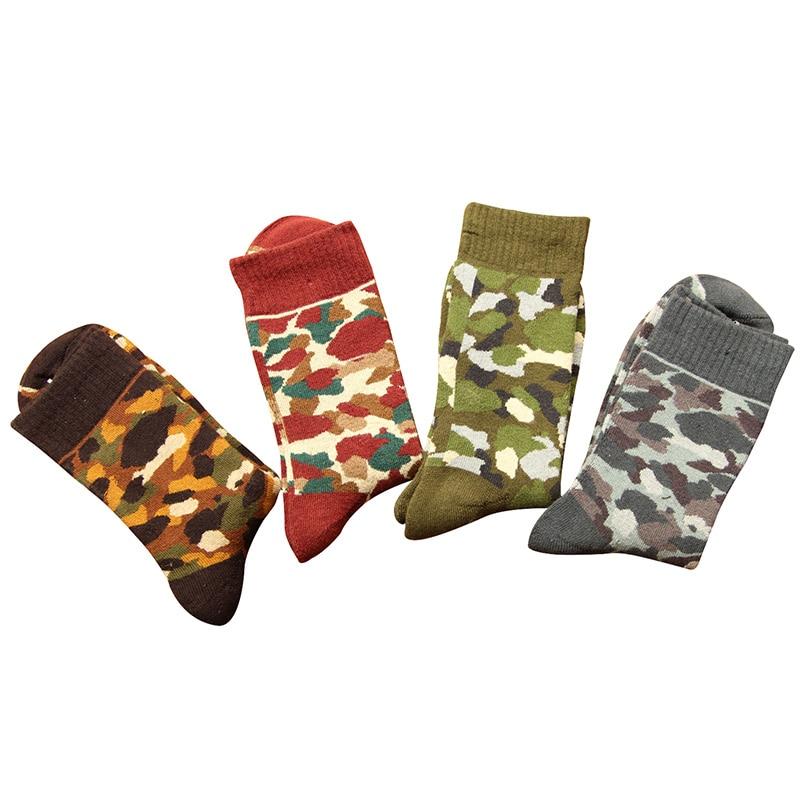 5Pairs Winter Thicker Military Camouflage Men Funny Socks Keep Warm Autumn Cotton Sock Meias Deodorant Elasticity Male Sock Crew