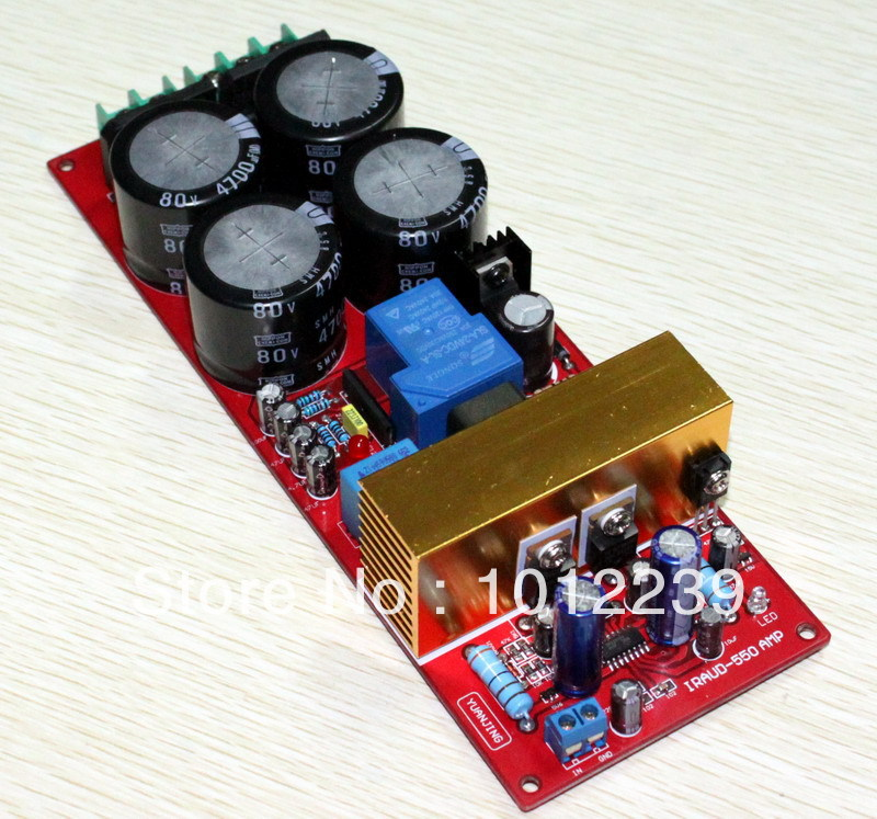 free shipping Assembled amplifier board IRS2092 Class D amplifier board (dual rectifier with protective power)