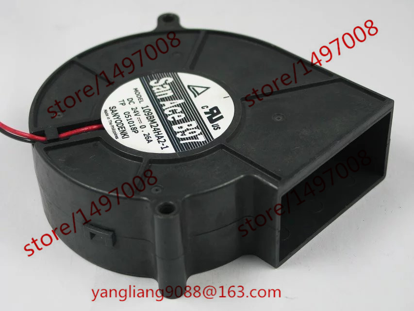 Free Shipping For SANYO 109BM24HA2-1 DC 24V 0.26A 2-wire 2-pin connector 80mm 97X97X33mm Server Blower Cooling fan free shipping emacro sf7020h12 61as dc 12v 250ma 3 wire 3 pin connector 65mm6 server cooling blower fan