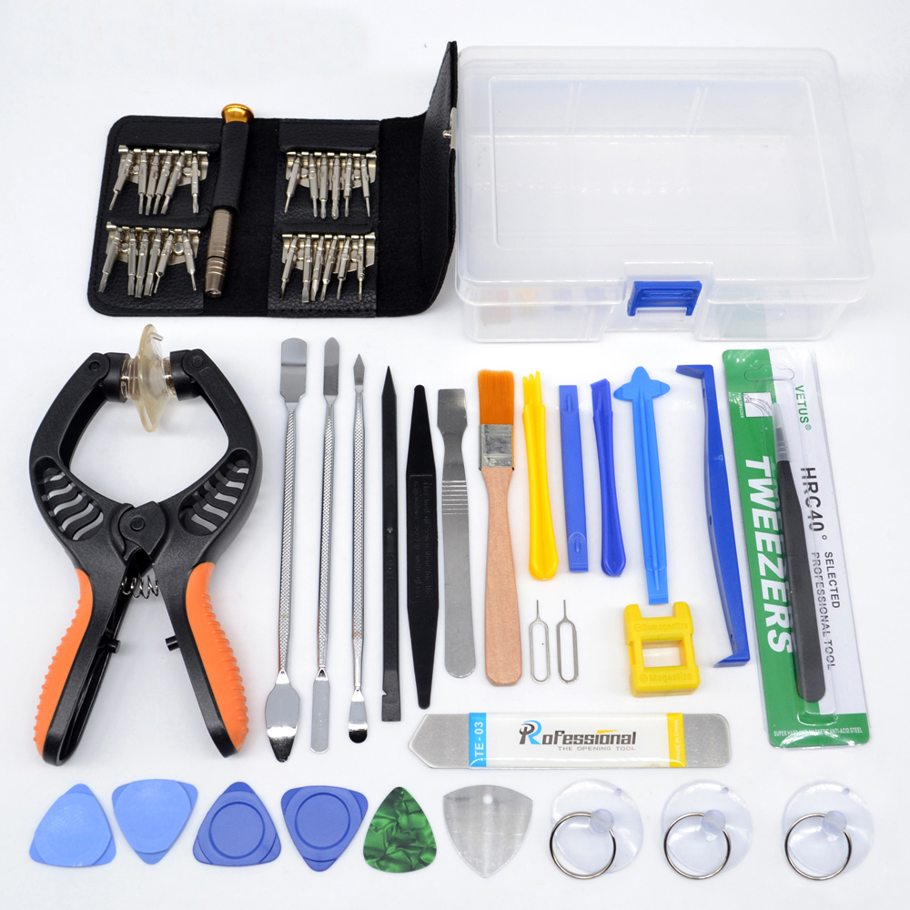 купить 53 in1 Repair Tools Kit Screwdriver  Mobile Phone Screen Opening PliersPry Disassemble Tool Set for iPhone Samsung iPad недорого