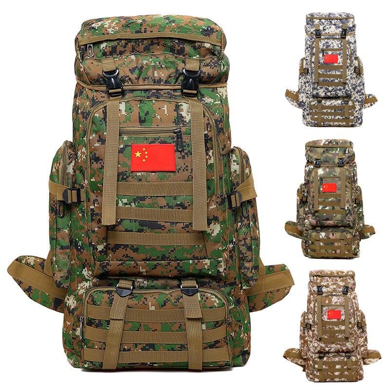 Camping Randonnée Sacs À Dos 70L Professionnel Armée Style Étanche Militaire Sac À Dos Tactique Randonnée en Montagne Sacs Pack Unisexe