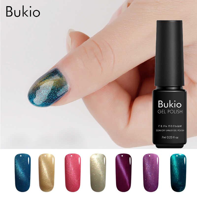 Bukio Nails Lacquer Cat S Eye Olive Green Gel Varnish Primer For Nail New Shine Color Gel Nail Polish Uv Led Nail Art Base Coat
