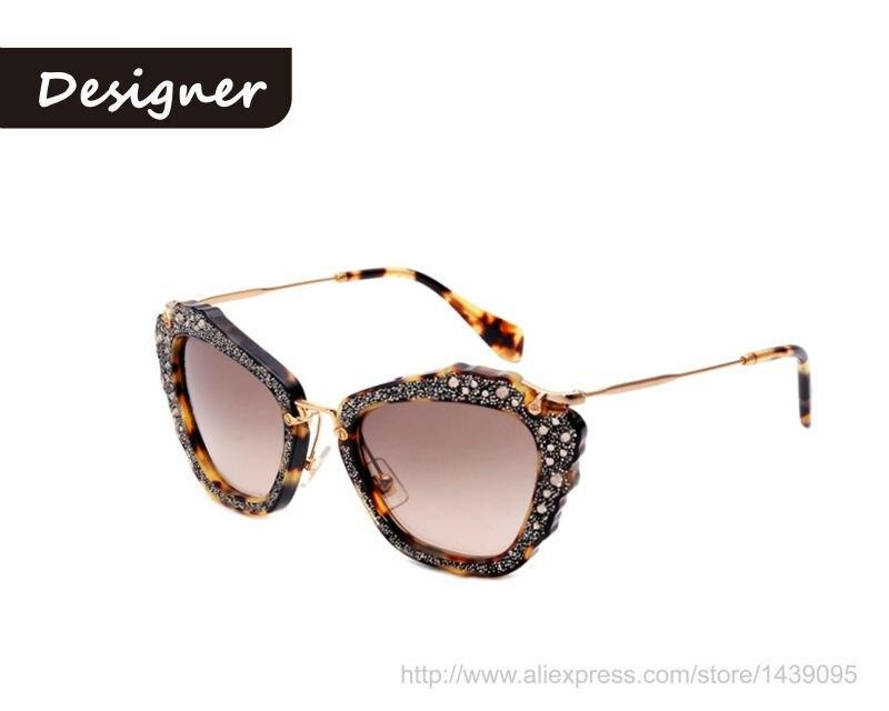 Miu Oculos Eye 2015 De Sol Women Full New Rim Cat Sunglasses RLq5jA43