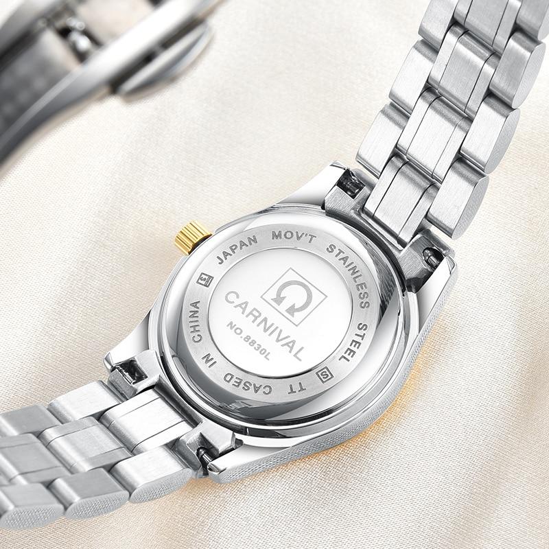 Carnaval luxe merk horloge vrouwen japan quartz klok zwitserland - Herenhorloges - Foto 4