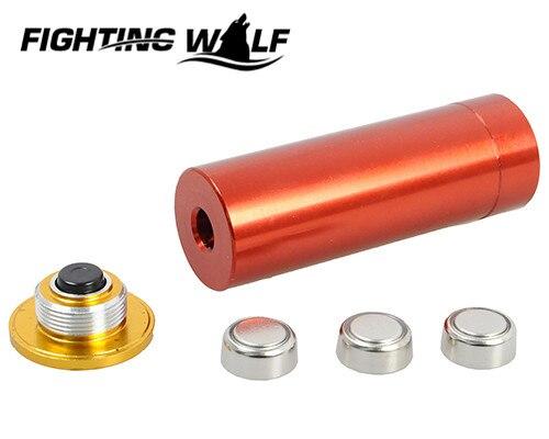 Цена за CAL: 12 GAUGE 12GA Картридж Лазерный Пистолет Sighter Gunsighter Red Dot Лазерный Латунь Областей Riflesighter Airsoft Охота Медь инструменты