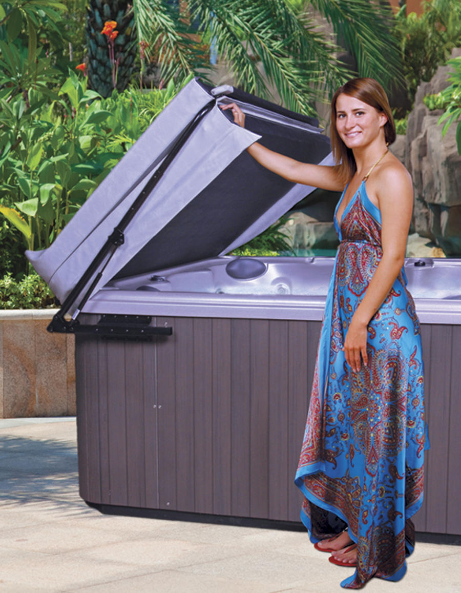 Australie nouvelle-zélande bain à remous spa couverture lifter jupe (tige pneumatique) support en aluminium fit 1619-2435 MM de largeur