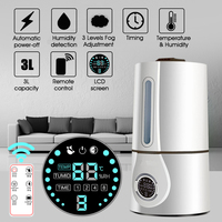 Air Humidifier Ultrasonic Mute Home Electric Aromatherapy Intelligent LCD Remote Control Household Essential Oil Aroma Diffuser