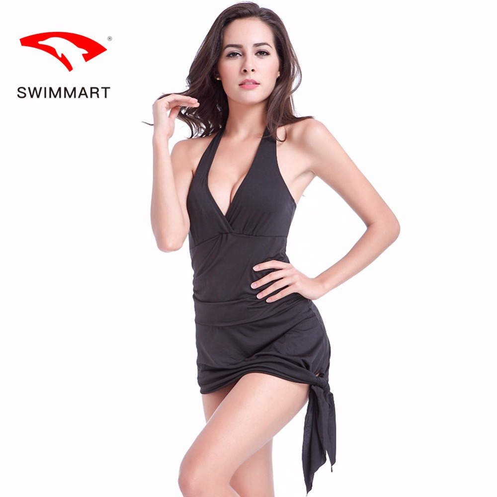 SWIMMART2018 Swimwear New Variety One Piece Swimsuit European and American Two-in-One Beach Dress Swimsuit one shoulder asymmetrical bodycon mini dress in navy