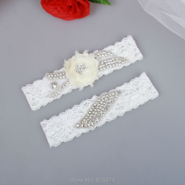 d8473338dcb 2016 New Design Rhinestones Lace Wedding Garter Bridal Garter Sets Handmade  Luxury Style Free SHipping