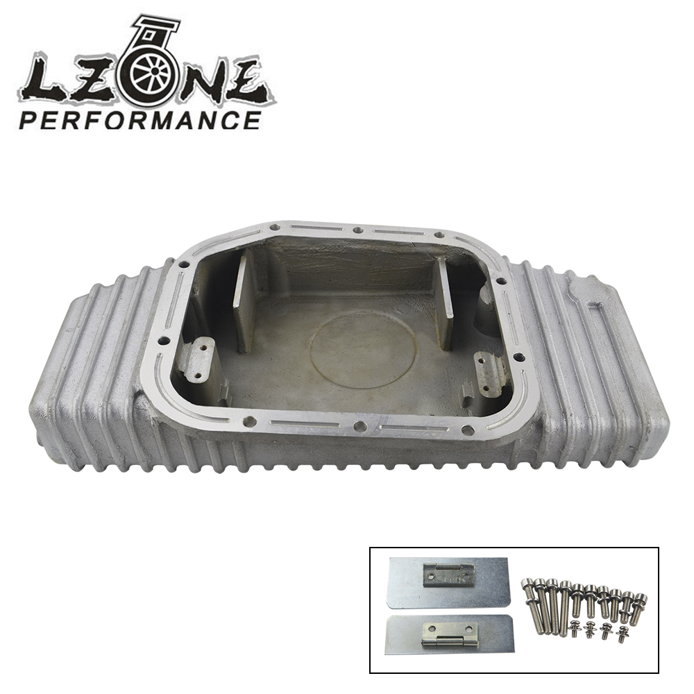 LZONE RACING - TURBO ALUMINUM OIL PAN FOR S13 S14 S15 SR20DET SR20 180SX 200SX 240SX SILVIA SIL 80 (Fits: FOR Nissan) JR-OP49 цены