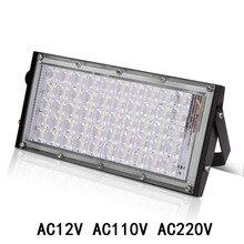LED światło halogenowe lampa zewnętrzna reflektory LED reflektor reflektor RGB 10W 20W 30W 50W wodoodporny ogród 12V 220V 110V oświetlenie