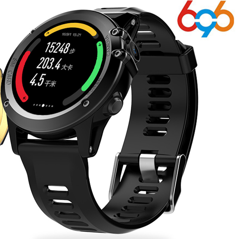 696 H1 MTK6572 IP68 GPS Wifi 3G Camera Smart Watch Waterproof 400*400 Heart Rate Monitor 4GB 512MB For Android IOS PK KW88 smartch h1 smart watch ip68 waterproof 1 39inch 400 400 gps wifi 3g heart rate 4gb 512mb smartwatch for android ios camera 500