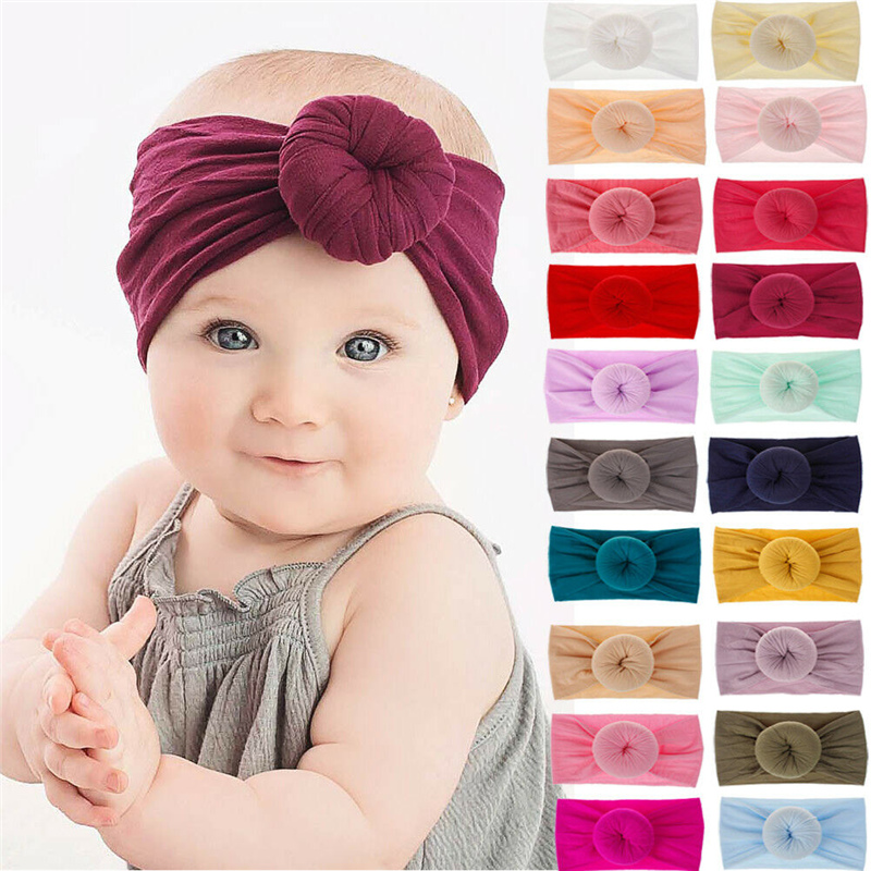 Ободок для волос с большим бантом для девочек, 21 цвет