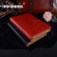 Retro Style A5 loose leaf high end business notebook laptop unit custom LOGO office stationery wholesale