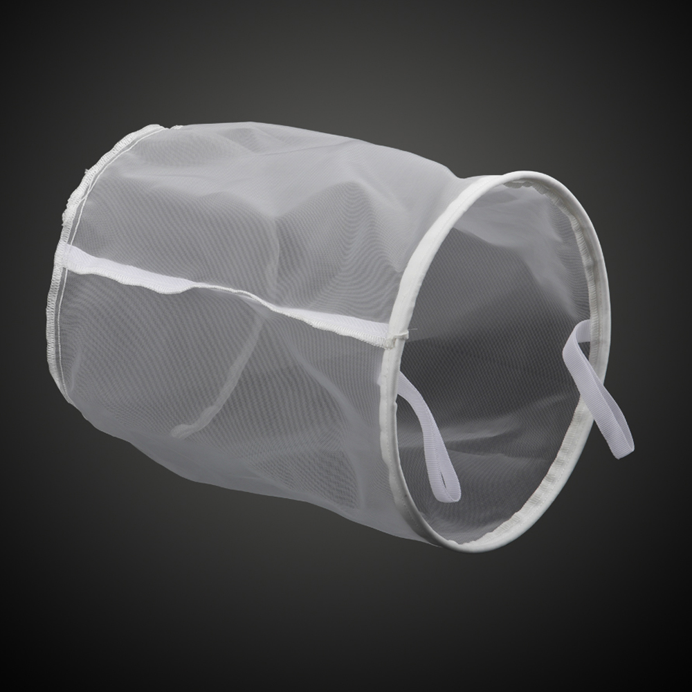 Home Brewing 30 Mesh Food Grade Nylon Bucket Filter Bag,Beer Wine Residue Separation Bag With Stainless Steel Ring