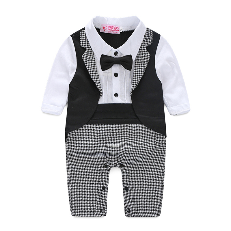цены на Baby Boy Formal Party Short Sleeve Cotton Blended Christening Wedding Tuxedo Waistcoat Bow Tie Suit Kids Child