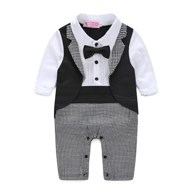 цены на Baby Boy Formal Party Short Sleeve Cotton Blended Christening Wedding Tuxedo Waistcoat Bow Tie Suit Kids Child