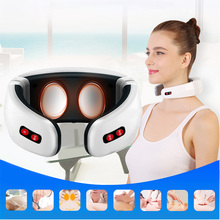 Electric Pulse Back and Neck Massager Compresas Caliente Fsioterapia Massage Muscle Stimulator Estimulador Muscular