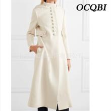 Женское пальто размера плюс, зима, модное элегантное уличное белое длинное пальто с капюшоном