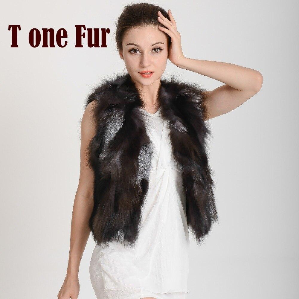Genuine Fox fur vest women s fox furWaistcoat Style Newest In Stock Hot selling Luxury real